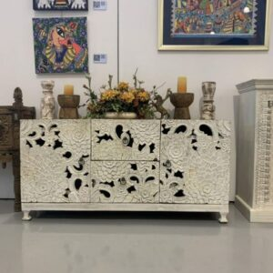 Carved Indian tv Console