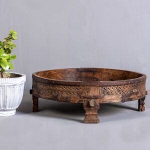 Chisel & Log- Buy Vintage Grinder Tables in Singapore Online