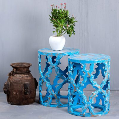 CARVED STOOL