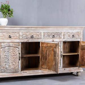 CARVED SIDEBOARD WITH DRAWERS