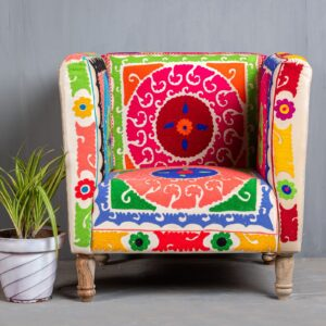HAND EMBROIDERED ARMCHAIR
