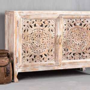 Buy Indian carved sideboards in Singapore- Chisel & Log