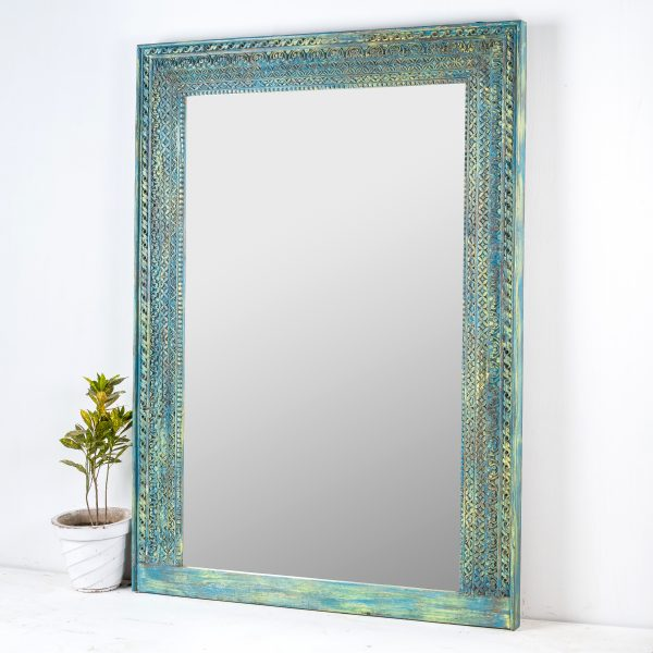 CARVED INDIAN MIRROR