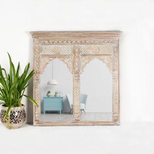 Double Arch Mirror (Whitewash)