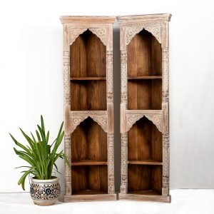 Ways To Use The Old Reclaimed Indian Doors  - bookshelf