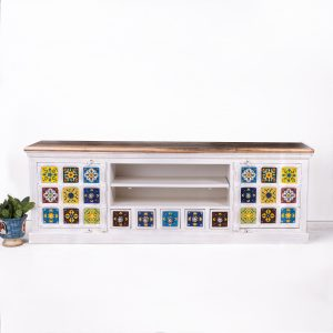 Hand Painted Tile TV Cabinet
